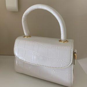 White mini crossbody bag